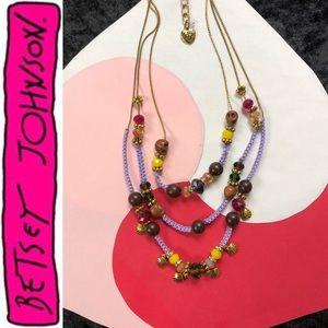 ✨Skulls Shells Beads Layer Gold Necklace Purple